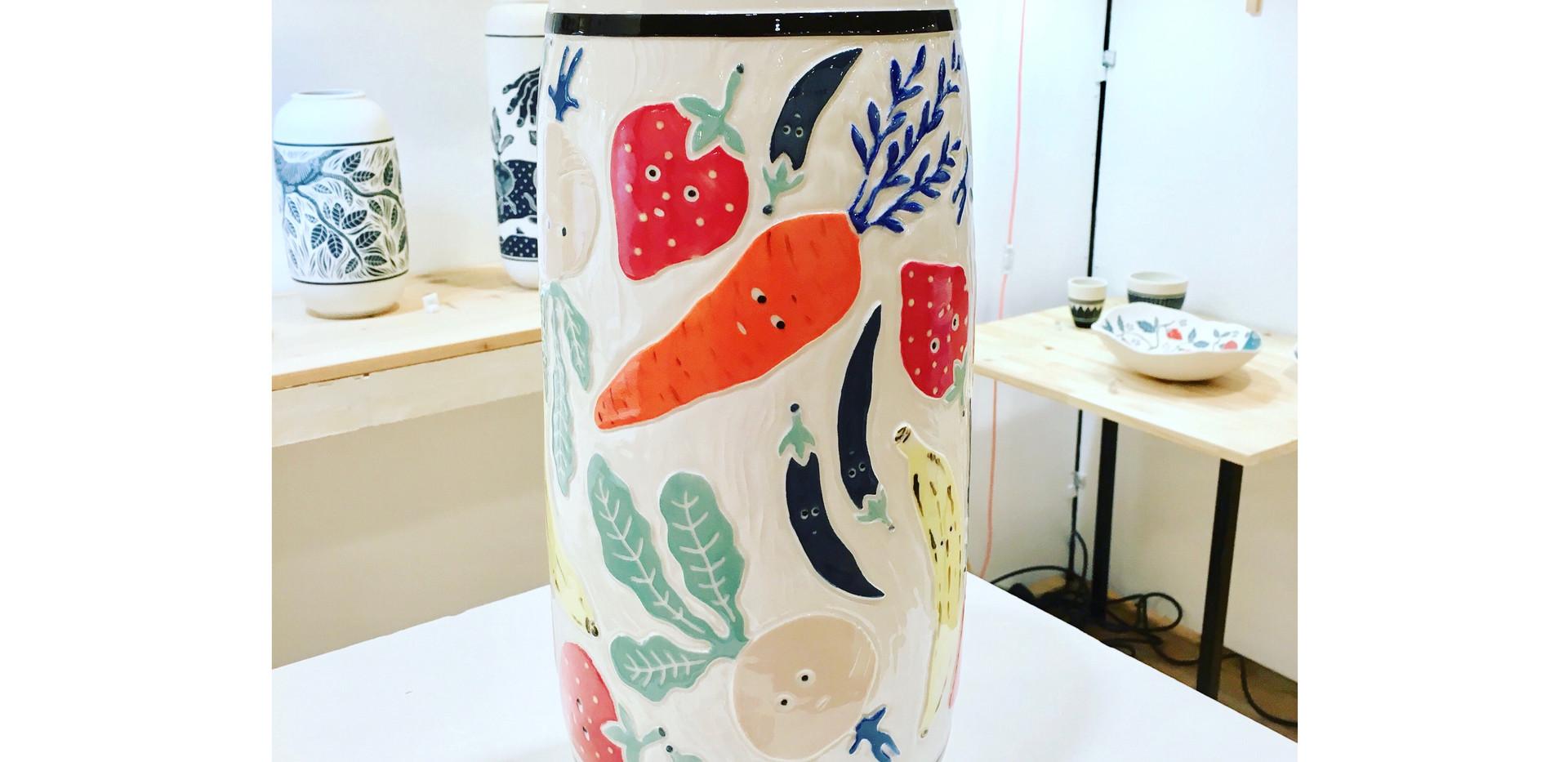 """Vase """"Fruits et légumes"""""""