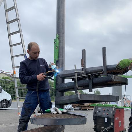 Bau einer Wendeltreppe
