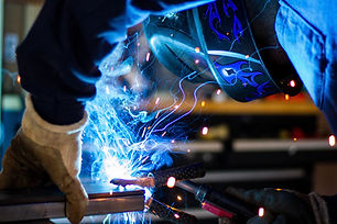 Up close image of welding process