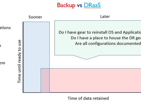 Backup vs. DRaaS