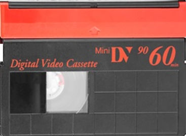 Mini DV, DVCAM and HDV cassette tape