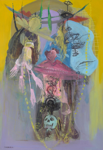 YASEMİN ŞENEL Série Helen of Troy, mix media on canvas  115x80 cm  7100 Euro