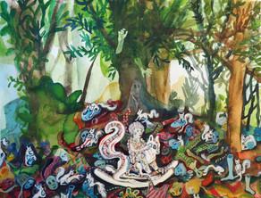 LOTTE VAN DE WALLE Untitled Kağıt üzeri guaj 21x28 cm, 2017 1300 Euro