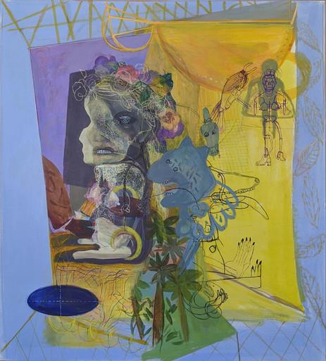 YASEMİN ŞENEL Untitled, acrylic on paper mounted on canvas  97x86 cm 5500 Euro