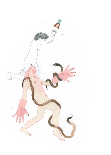 ANNABELLE GUETATRA Untitled Mixed media on paper 21x29,7 cm, 2020 920 Euro