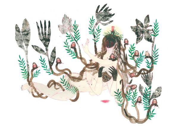 ANNABELLE GUETATRA Une lilliputienne 05 | Mixed media on paper 27x36 cm, 2020 1300 Euro