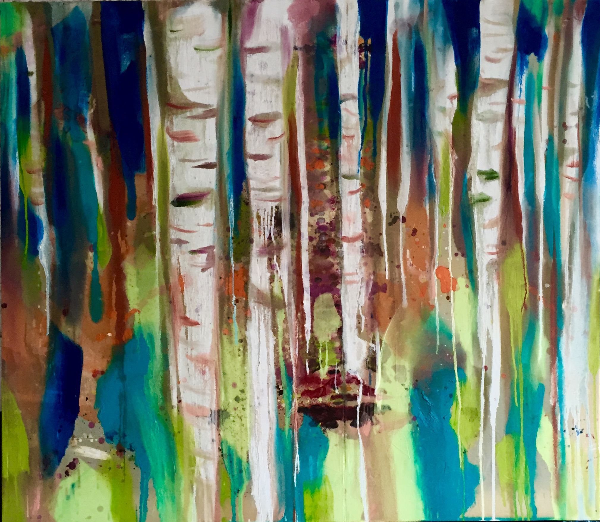 BIRCH FOREST_160x140_oil on canvas_2016.