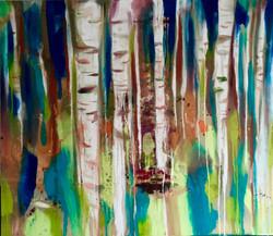 BIRCH FOREST_160x140_oil on canvas_2016.