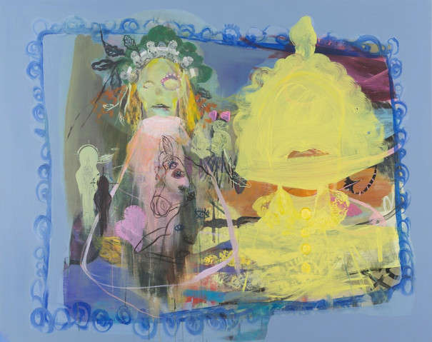 YASEMİN ŞENEL Série Helen of Troy, acrylic on canvas  120x150 cm 10000 Euro