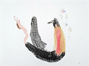 ANNABELLE GUETATRA Série Les Eléphants de mer Mixed media on paper 42x29,7cm, 2018 1300 Euro