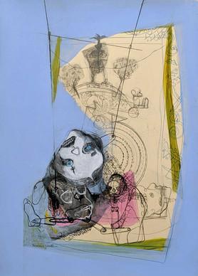 YASEMİN ŞENEL Untitled, Mixed media on paper  35x25 cm 2020   1500 Euro