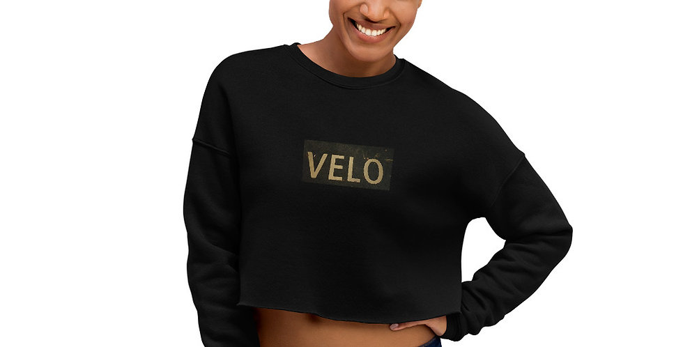 Velo Woman Crop Sweatshirt