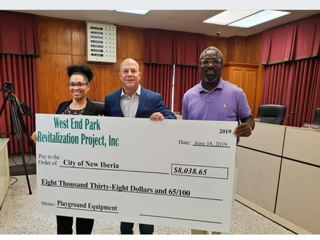 Donation made to help pay for park work
