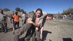 Action sports athletes endurance event for Army