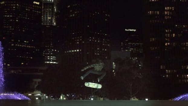 Christopher Nolan skate session homage for WB