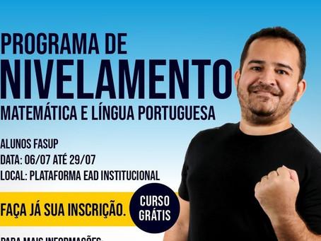 Programa de Nivelamento - Matemática e Língua Portuguesa