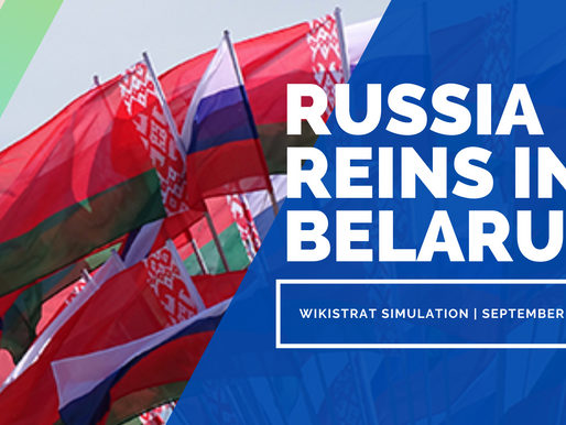 Russia Reins in Belarus - A New Wikistrat Simulation