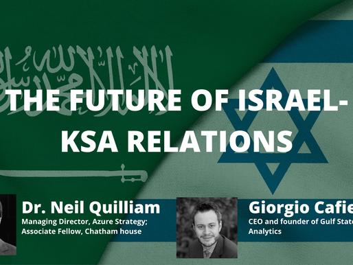 Wikistrat Webinar: The Future of Israel-KSA Relations