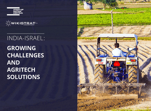 India -Israel: Growing Challenges and Agritech Solutions