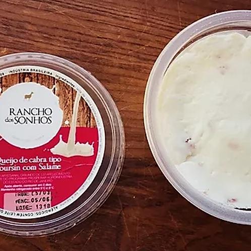 Queijo de Cabra Boursin com Salame (250g) - Rancho dos Sonhos