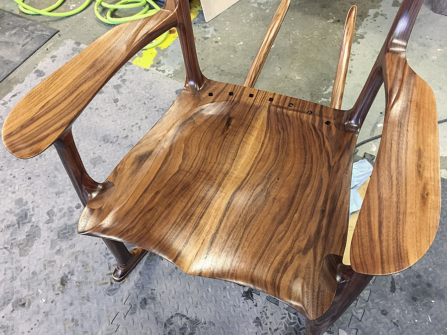 Walnut Rocking Chair