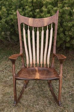 Curly Walnut Rocking Chair