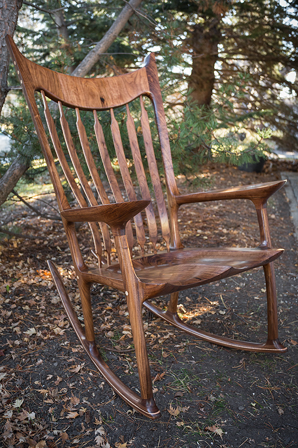 Walnut Rocking Chair - SOLD