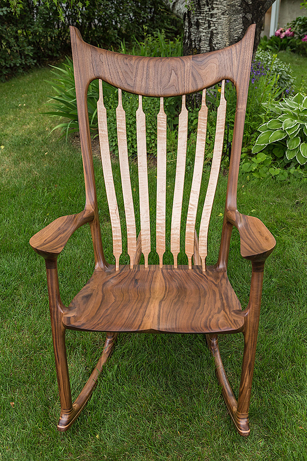 Walnut & Maple Rocker