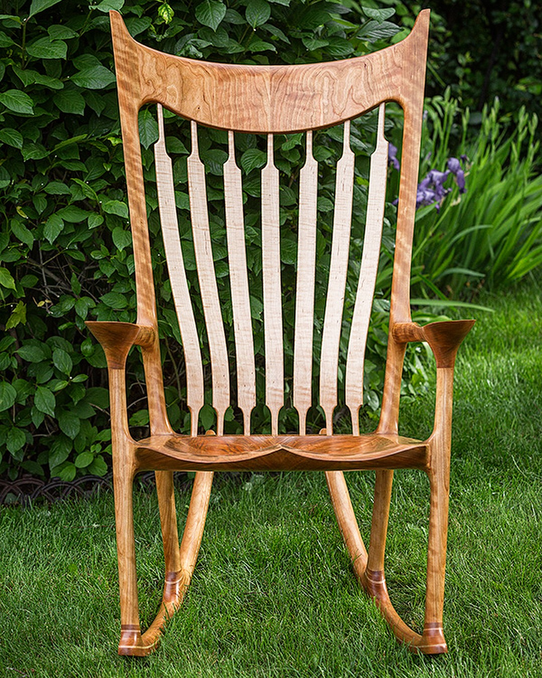 Cherry and Curly Maple Rocker