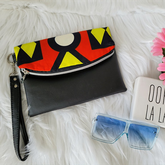 Tribal African print Foldover Clutch