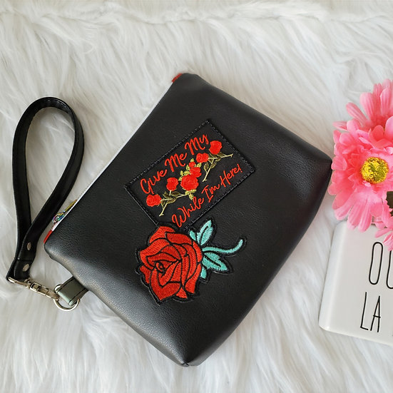 Limited Edition: Give Me My Roses Wristlet