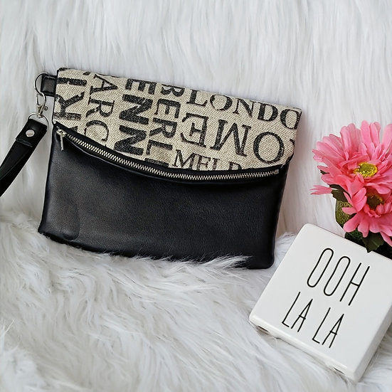 Cities all Over the World Foldover Clutch