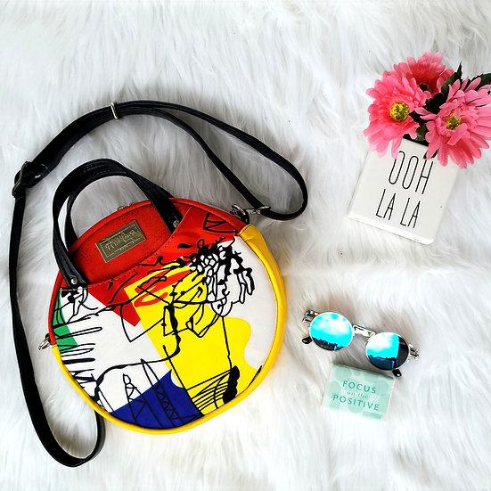 Multicolor Ankara Magdalena Circle Bag