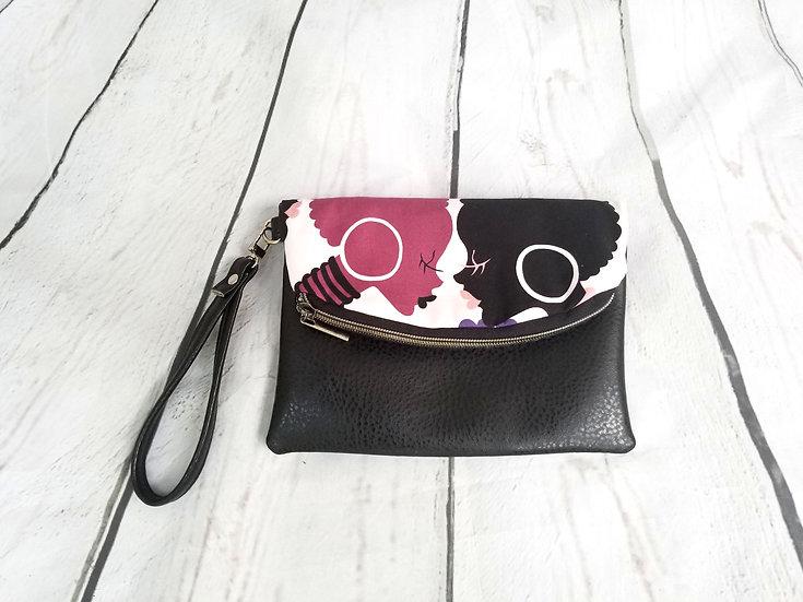 Limited Edition: Purple Silhouette Foldover Clutch Wristlet