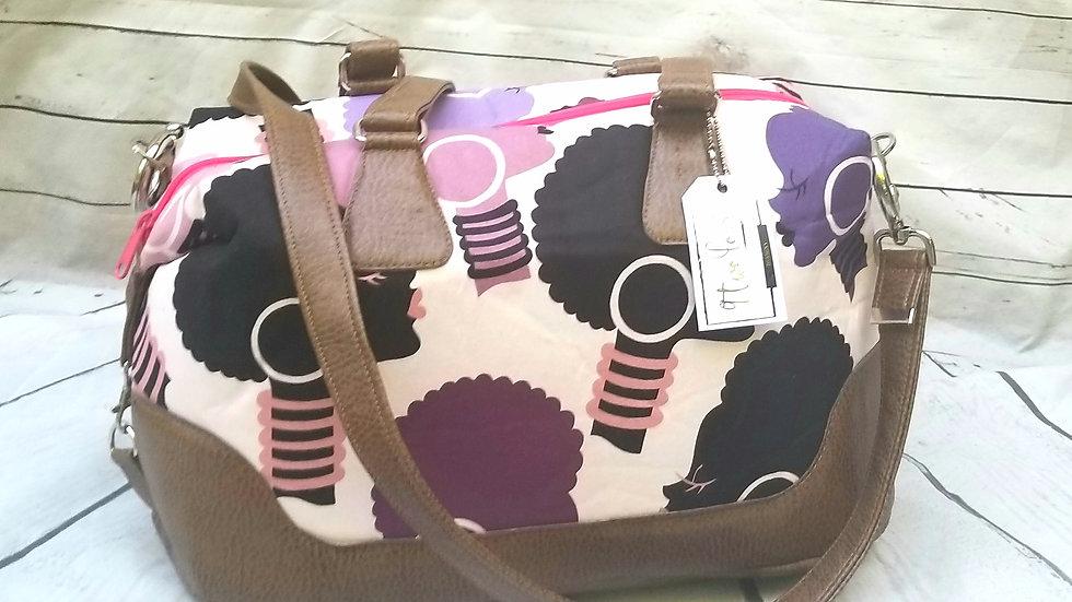 Classic side clip traveller handbag