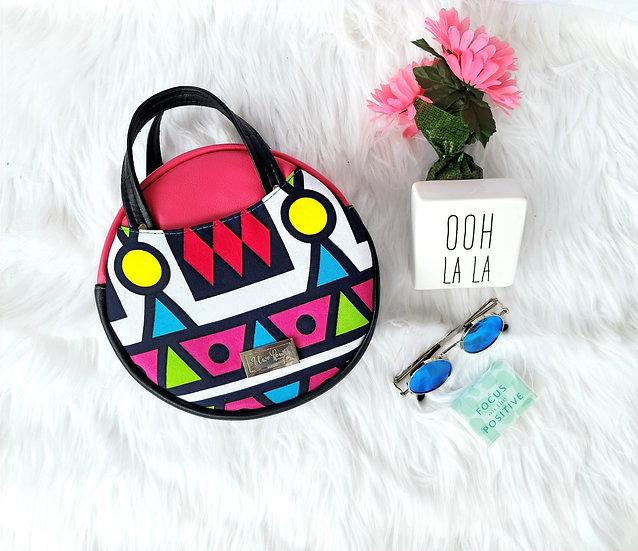 Pink Tribal Magdalena Circle Bag
