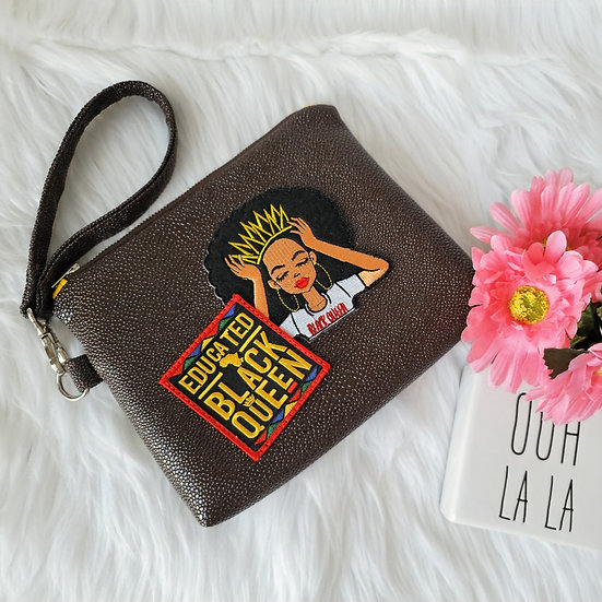 Limited Edition: Educated Black Queen Wristlet