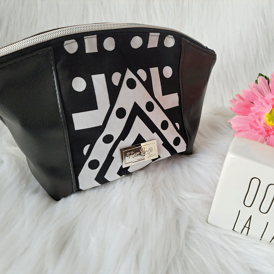 Black Red and Yellow Tribal Curvy Zipper Clutch