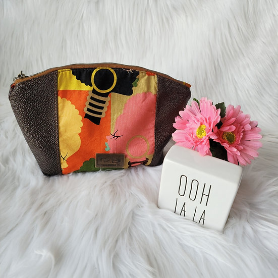 Limited Edition: Natural Afro Heads Curvy Zipper Clutch