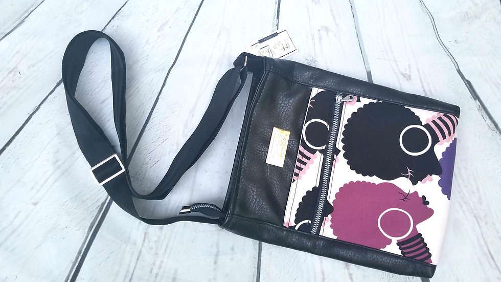 Black limited edition afro cross body