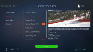 New User Interface for Ski Simulators Is Rolling Out
