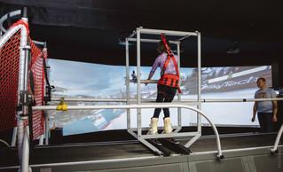 Тренажер для особенных лыжников