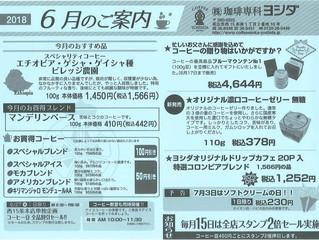 6月のご案内(ゲイシャ入荷!)