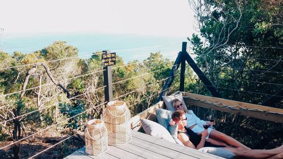 Deck and hammock