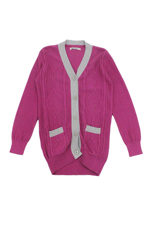 CABLE KNIT CARDIGAN. 132WO18-21
