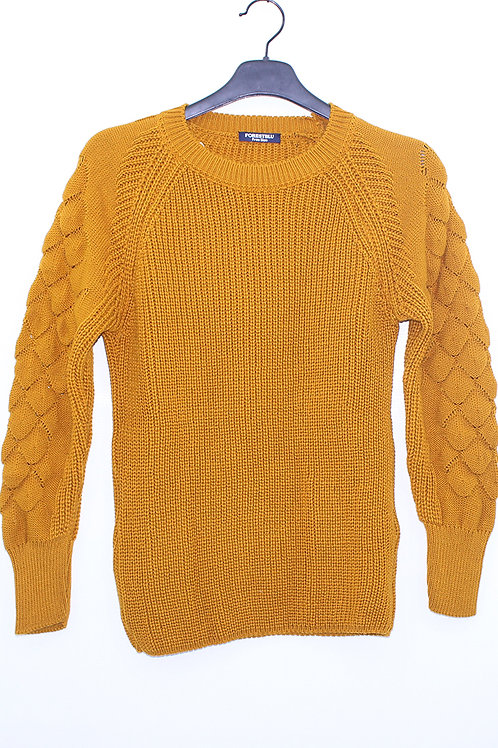 FW20TWS03-15  BUBBLE SLEEVE SWEATER