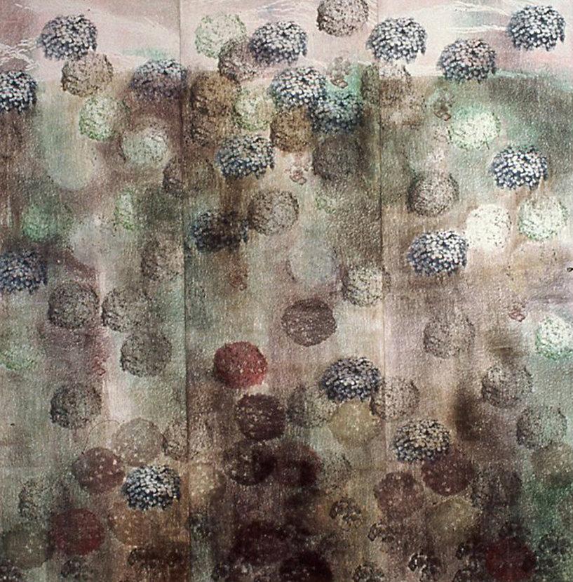 """ETERNAL HOME, 2002 Woodcut, Silkscreen, Monoprint, & Linoleum cut 96"""" x 96"""""""