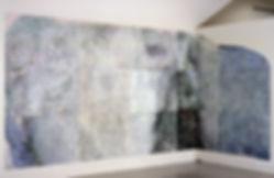 "BEGINNING, 1995 Woodcut 88"" x 215"""