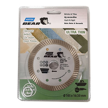 Norton Daimond blade for Soft and Hard Tiles - Ultra Thin 70184607389