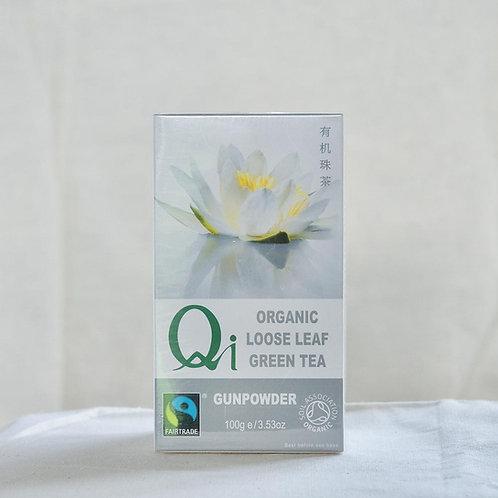 Qi Herbal Health Gunpowder Loose Green Tea